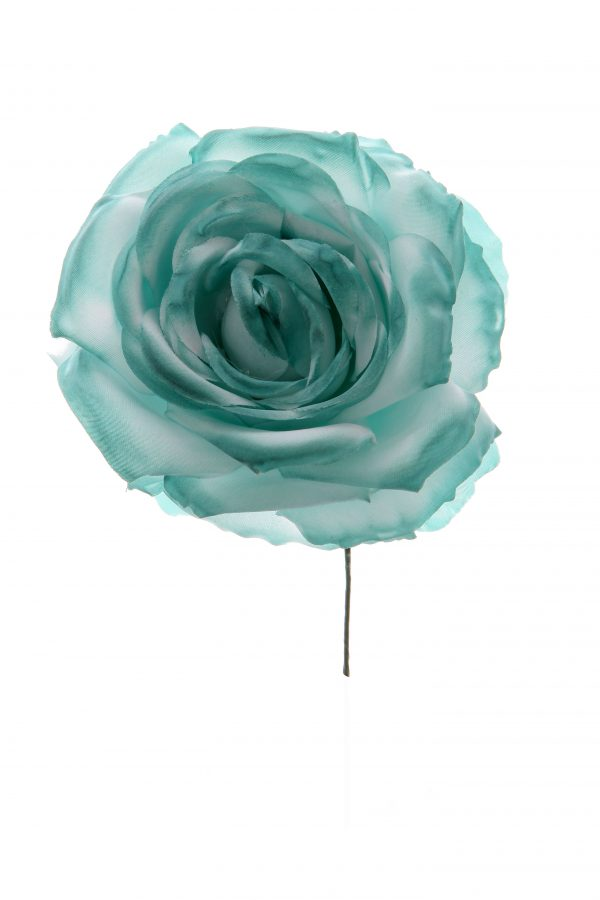 Rosa de flamenca verde agua
