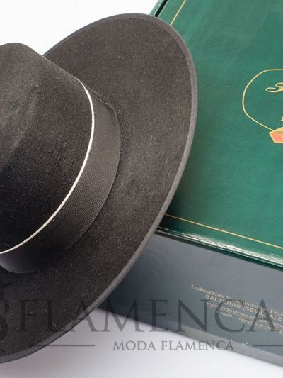 Black flamenco cordovan hat