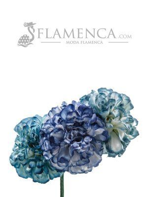 Tiara de flamenca en tonos azules antiguos degradados