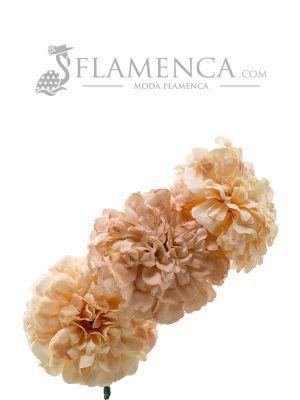 Tiara de flamenca en tonos beige degradados