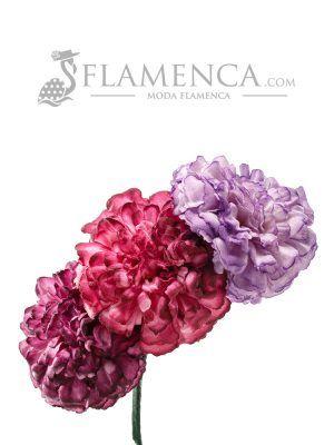 Tiara de flamenca en tonos buganvilla degradados