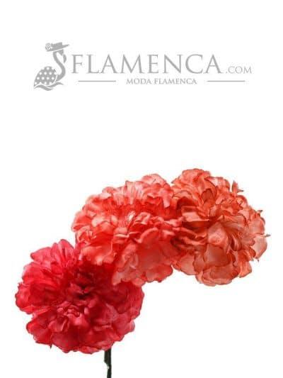 Tiara de flamenca en tonos corales