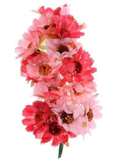 Tiara de flamenca en tonos rosas