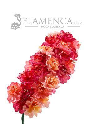 Tiara de flamenca en tonos rosas degradados