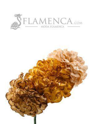 Tiara de flamenca en tonos tierra degradados