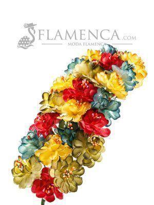 Tiara de flamenca multicolor