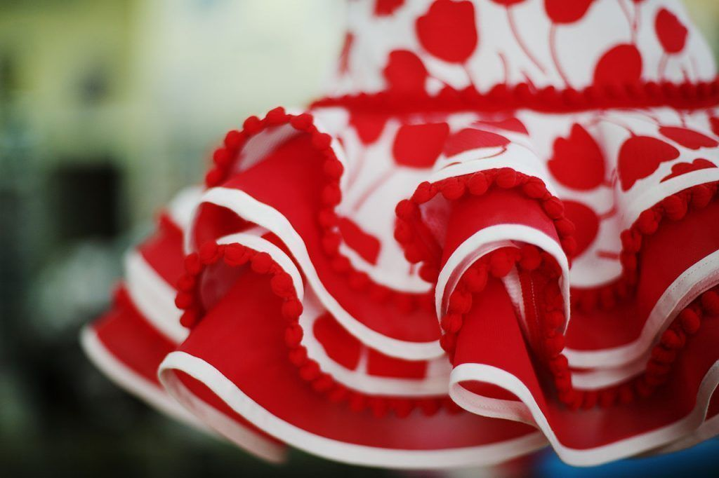 Volantes en los trajes de flamenca